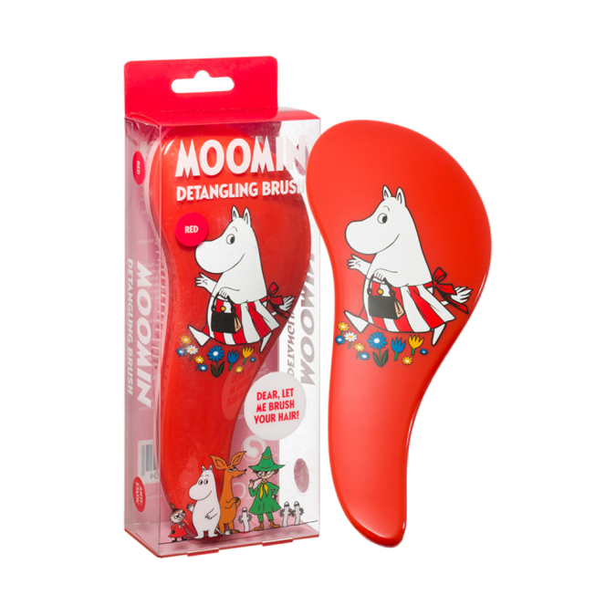 MOOMIN Detangling Brush Red Moominmamma