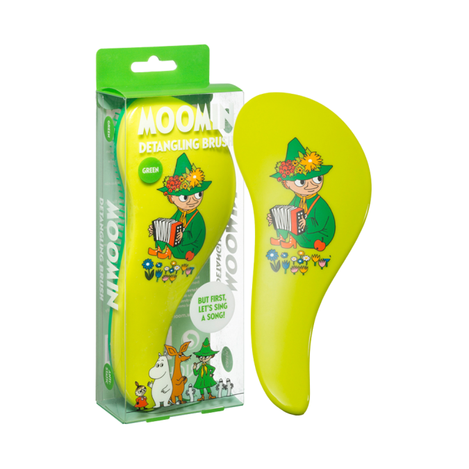 MOOMIN Detangling Brush Green Snufkin